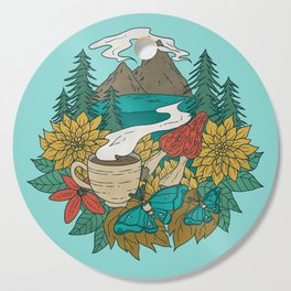 Pacific Northwest Coffee and Nature Cutting Board