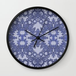 Lavender Gothic Lace Wall Clock