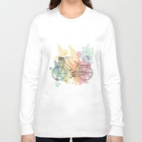 cycle Long Sleeve T-shirts featuring Cycle Painting by Impurist