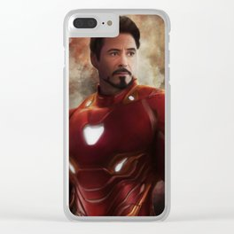 Man Iron (Infinity War) Clear iPhone Case