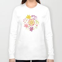 oriental Long Sleeve T-shirts featuring Oriental Blooms by Poppy & Red