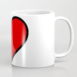 Bold Red Heart Shape Valentine Digital Illustration, Minimal Art Coffee Mug