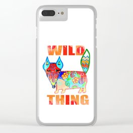 Wild thing - fox Clear iPhone Case