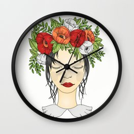 Flowers Queen - Poppies Wall Clock
