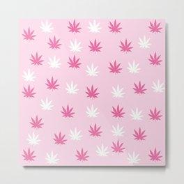 Weed Kiss Kiss Metal Print