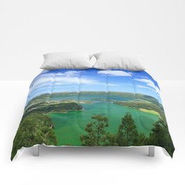 Lakes in Azores Comforters