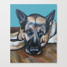 Merlin the German Shepherd Canvas Print