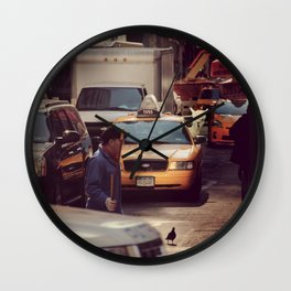 A LAMA IN NEW YORK ***  NEVER STOP EXPLORING VIII Wall Clock