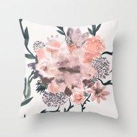 georgiana paraschiv Throw Pillows featuring Summer Flowers by Georgiana Paraschiv