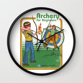 ARCHERY FOR BEGINNERS Wall Clock