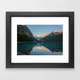 LAKE LOUISE AUTUMN SUNRISE BANFF NATIONAL PARK CANADA LANDSCAPE PHOTOGRAPHY Framed Art Print