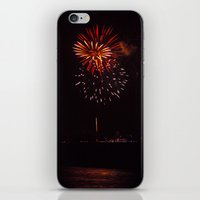 fireworks iPhone & iPod Skins featuring Fireworks by Taylor Payne