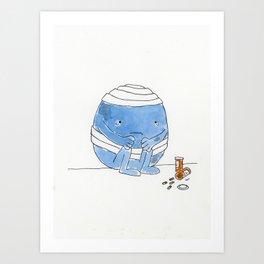The Unbearableness of Bump Art Print