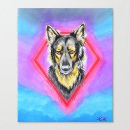 Koba the German Shepherd Dog Canvas Print