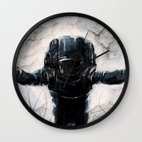 lunar Wall Clocks featuring Lunar Figure  by Steve Panton