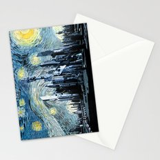 Starry Night Over Atlantis Stationery Cards