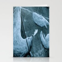 dolphins Stationery Cards featuring Dolphins by double U double O