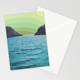 Lime Sky in Ocean Exit Stationery Cards