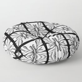 Pattern abstract square tile nanquim black and white Floor Pillow