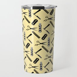 Barber Shop Pattern Travel Mug