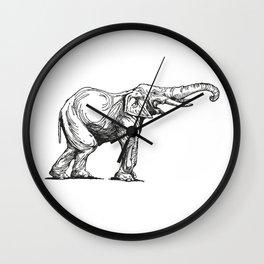 Elephant Elefante Wall Clock