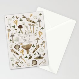 Northern forest (white) Stationery Cards