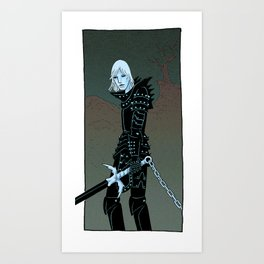 Cursed Knight Art Print
