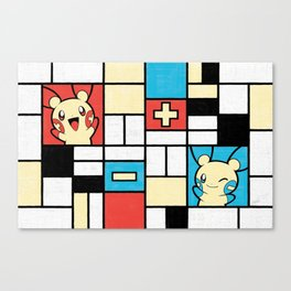 Composition with Plusle and Minun Canvas Print