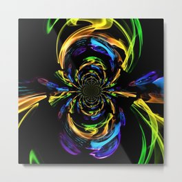 Valley Of The Rainbow In Abstract Metal Print
