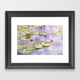 Reflection, watercolor Framed Art Print
