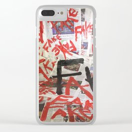 Fake News. Clear iPhone Case