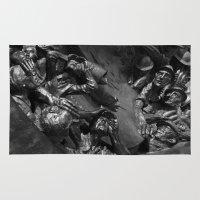war Area & Throw Rugs featuring War by Jake Holman