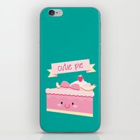 pie iPhone & iPod Skins featuring Cute pie by Alice Wieckowska
