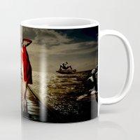 siren Mugs featuring Siren by Galen Valle