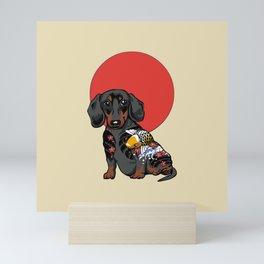 Yakuza Dachshund Mini Art Print