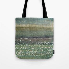 Landscape Dots- Blue Tote Bag
