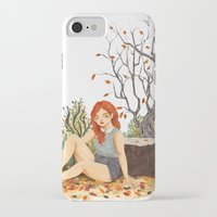 lydia martin iPhone & iPod Cases featuring Lydia Martin, Autumn by strangehats