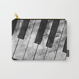 Piano Keys black and white Carry-All Pouch