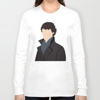 sherlock Long Sleeve T-shirts featuring Sherlock by Jessica Slater Design & Illustration