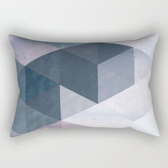 Abstract Geometric Print Rectangular Pillow