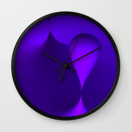 the color lilac Wall Clock