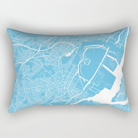 Newark map blue Rectangular Pillow