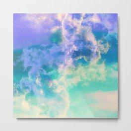 Mountain Meadow Painted Clouds Metal Print