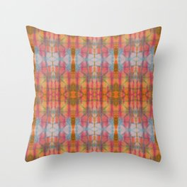 Multicolored Shibori Tie Dye // Bright Color Pattern // Abstract Textile Painting Throw Pillow