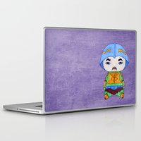 skeletor Laptop & iPad Skins featuring A Boy - Man-at-arms by Christophe Chiozzi