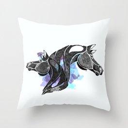 dot of horse Throw Pillow