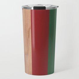 Red, Green & Wood Travel Mug