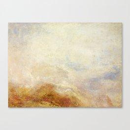 A mountain scene by Joseph Mallord William Turner, 1845 Canvas Print