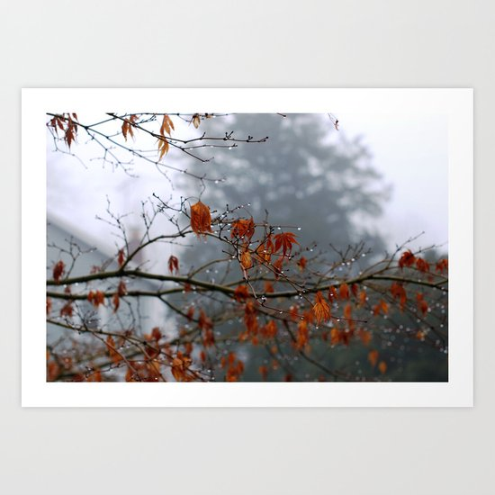 autumn storms Art Print