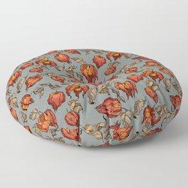 red physalis Floor Pillow